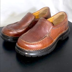 Born Brown Leather Slip on Shoes Size 3 US 30 EUR